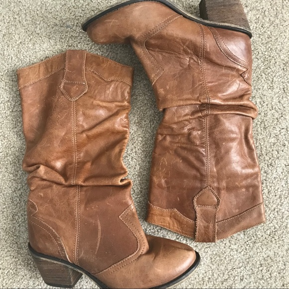 711188635d2 Steve Madden Cowgirl Western Boots Wooden Heel 6.5.  M 5b89599f7ee9e2c0705bdc86
